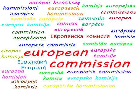 Manieren om Europese Commissie te zeggen in alle 24 officiële talen van de Europese Unie