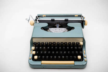 A typewriter isolated on a white background Foto de archivo