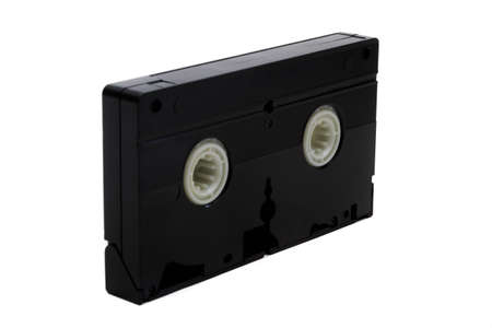 A video cassette isolated on a white background