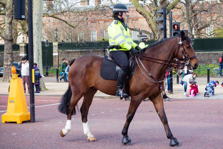 London, United Kingdom, March 8th 2020:- A police officer on horse back on The Mall
