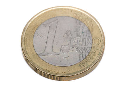 A close up view of a 1 Euro Coin