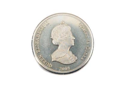 A close up view of a Ten Pence Coin from Tristan Da Cunha Stock fotó
