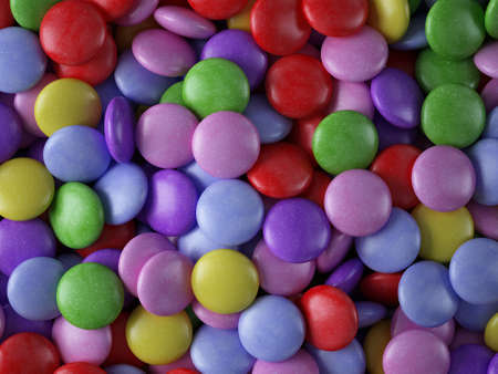dispersed: Close-up of colorful candy