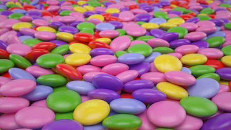 dispersed: Blurred sweet candy