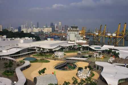 Top View of Vivo City, a new shopping center in Singapore. Stock Photo