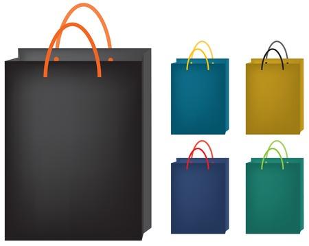 Illustrations vectorielles sur des sacs en papier. Différents tonalité de couleur disponible.