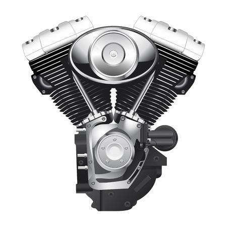 retro motorcycle engine 矢量图像