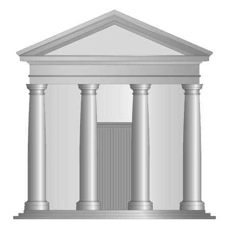 ancient roman temple with tuscany columns 矢量图像