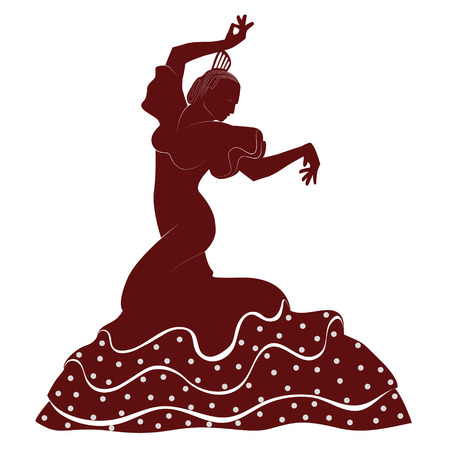 a typical spanish dancer from seville Illustration