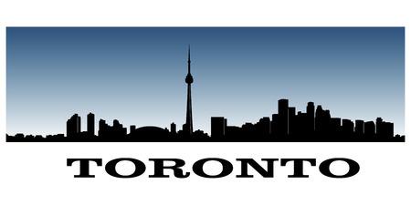 toronto: silhouette of toronto s skyline