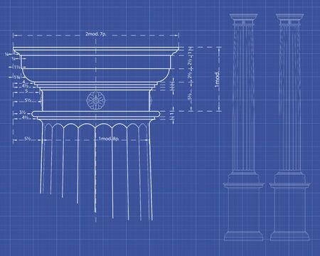 plundering: Met detail van Dorische kolom Maatregelen op technische achtergrond