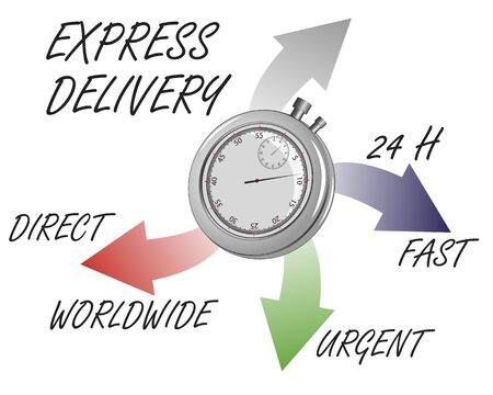chronometer: info graphic express delivery acerca With chronometer