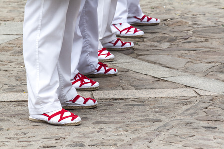 detail of the typical regional dress shoes from spain 免版税图像