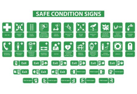 白い背景の上安全な状態記号