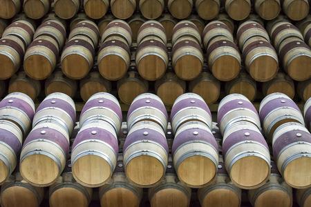 set of wine barrels at a cellar 免版税图像