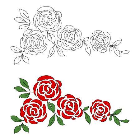 黒と白とカラーの花の飾り 写真素材 - 60359775
