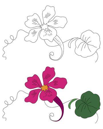 黒と白とカラーの花の飾り 写真素材 - 60370838