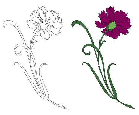 흑인과 백인과 컬러로 꽃 장식