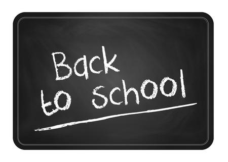 blackboard with white text back to school 免版税图像