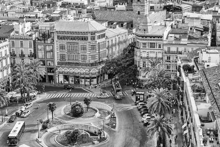 스페인의 발렌시아에서 여왕 광장 에디토리얼