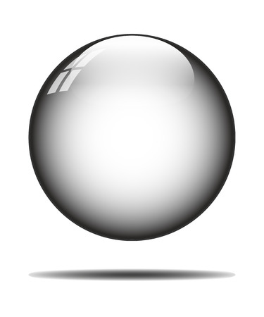 isolated crystal ball on white background