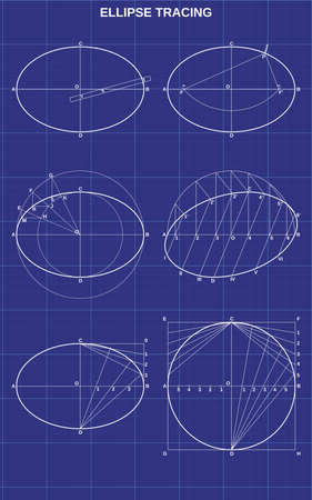 ellipse tracing on technic background