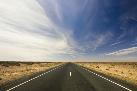 A road stretches for eternity Stock Photo
