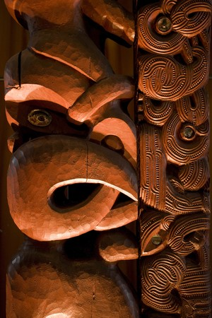 A dramatically lit Maori carving Stock Photo - 4545994