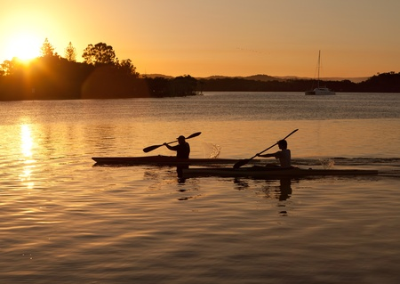 kayak: Kayak bij zonsondergang