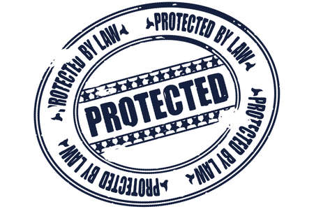protected stamp vector Stock Vector - 17804649
