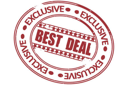 best deal stamp vector Vector