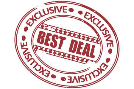 best deal stamp vector Stock Vector - 17804647