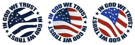 in god we trust vector
