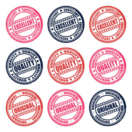 set of color stamps vector Stock Vector - 17804642