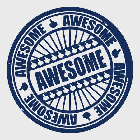 stamp seal: awesome stamp vector