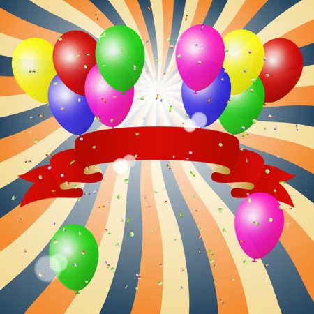 kinder: balloons background vector