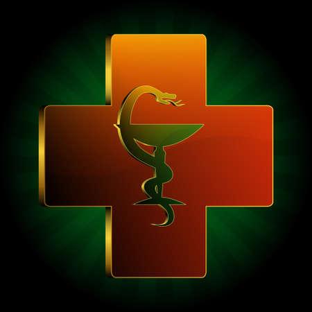 ordinance: medical snake background vector Illustration