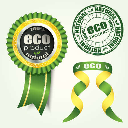 eco set vector Stock Vector - 17804787