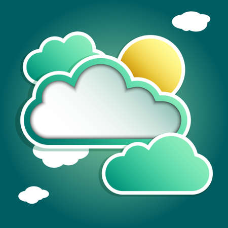 clouds for your tect vector Vector