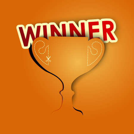 winner background vector Vector