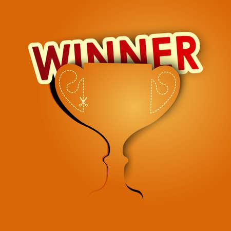 sport fan: winner background vector