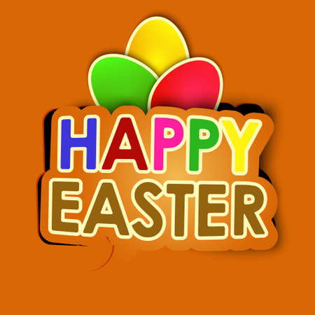 happy easter background vector Vector