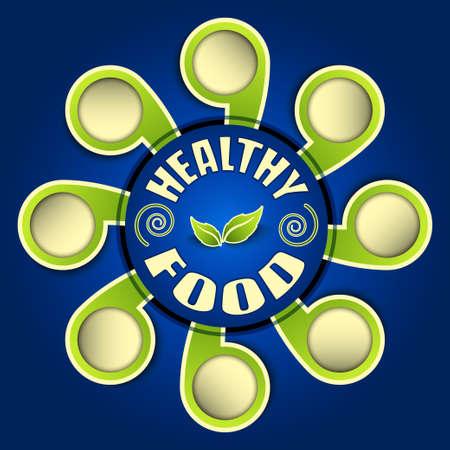 healthy food background vector Stock Vector - 17804771