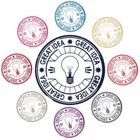 expertise: idea stamp vector