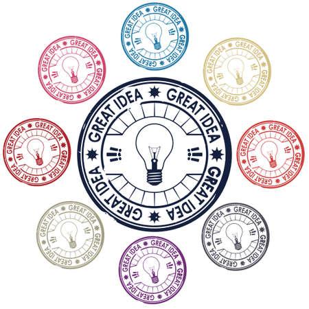 idea stamp vector Stock Vector - 17804683