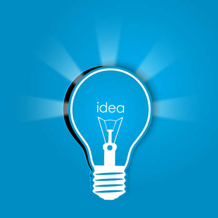 idea with lights vector Vector