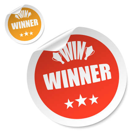 winner stick vector Vector