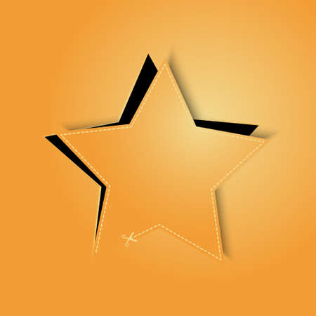 golden star background vector Vector