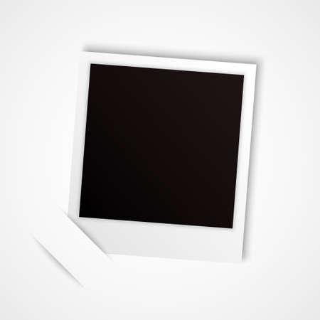 polaroid: cadre photo pour votre objet vectoriel Illustration