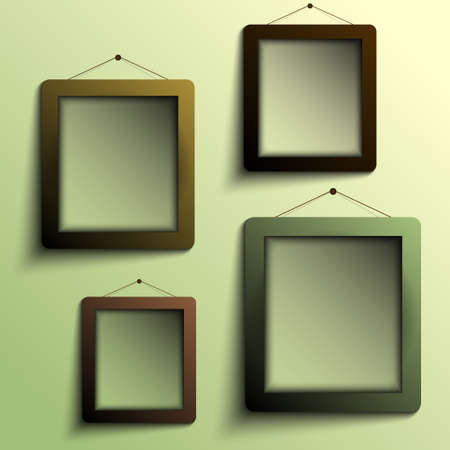 frames for objects vector Stock Vector - 17804779